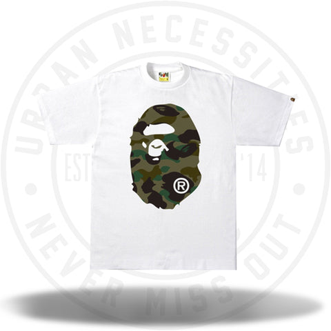 BAPE 1st Camo Side Big Ape Head White/Green-Urban Necessities