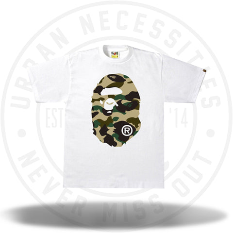 BAPE 1st Camo Side Big Ape Head White/Yellow-Urban Necessities