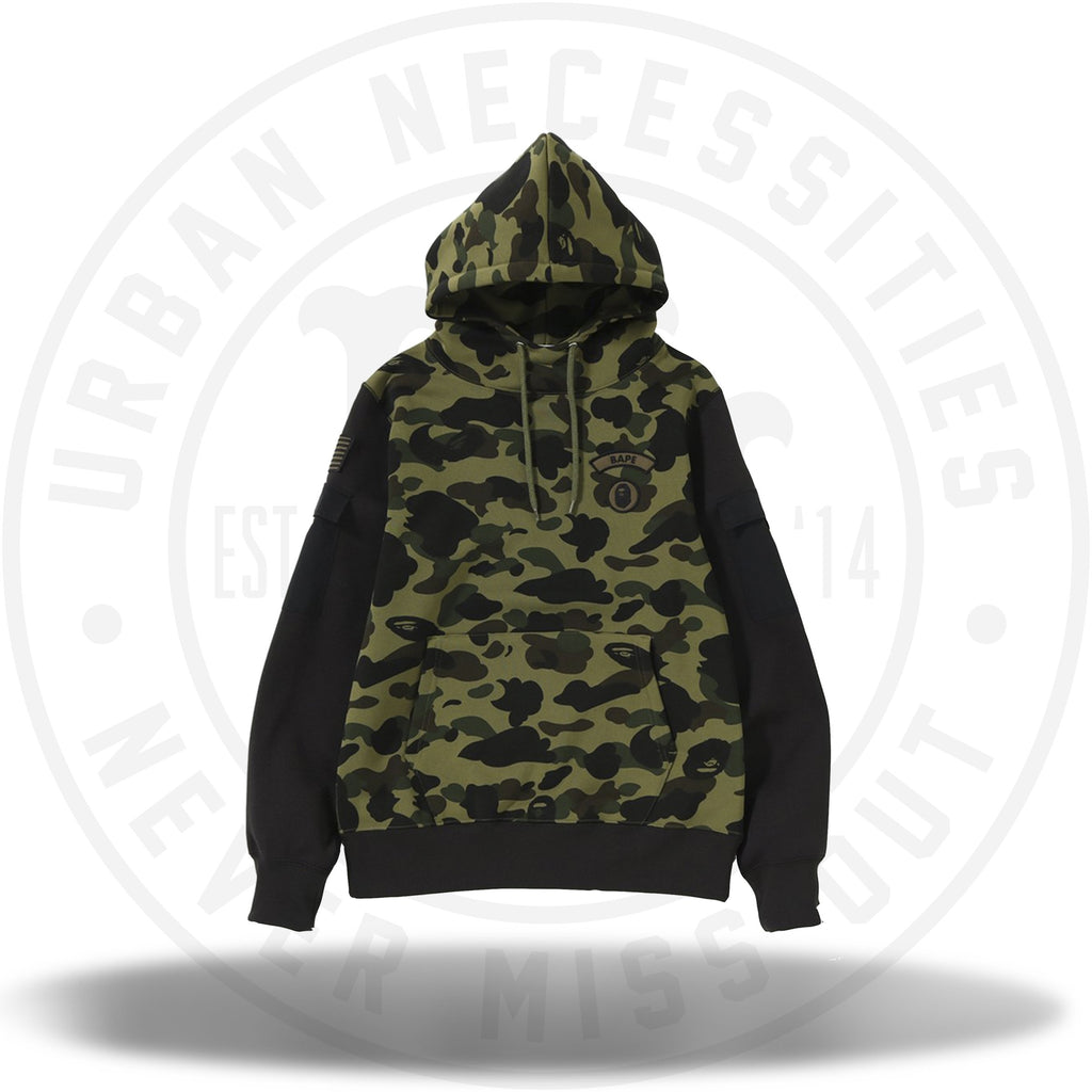 BAPE 1ST CAMO SLEEVE POCKET PULLOVER HOODIE MENS-Urban Necessities