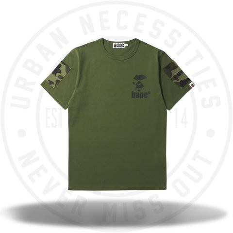BAPE 1st Camo Sleeve Pocket Tee Green-Urban Necessities