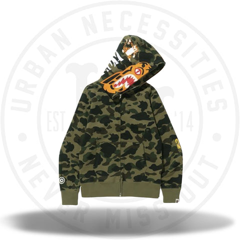 BAPE 1st Camo Tiger Full Zip Hoodie Green-Urban Necessities