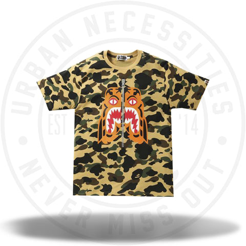 Bape 1st Camo Tiger Tee Yellow-Urban Necessities