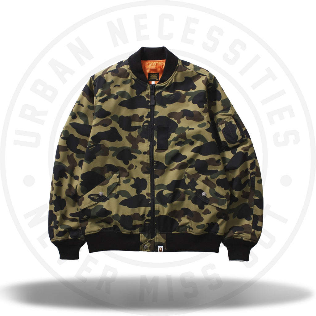Bape 1St Camo Windstopper Dark Green-Urban Necessities