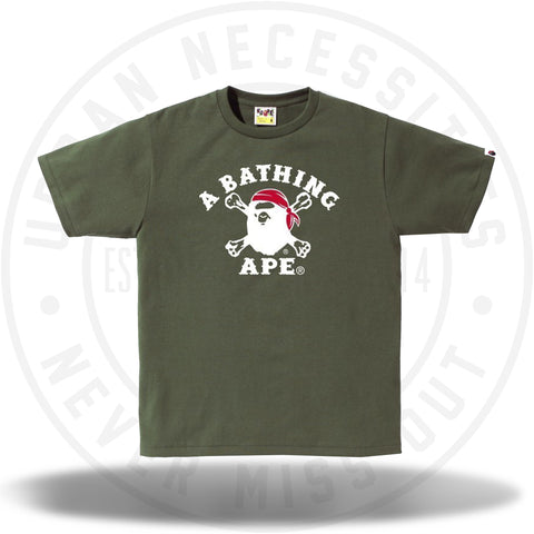 Bape A Bathing Ape Pirate Tee Olive-Urban Necessities