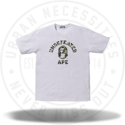 Bape A Bathing Ape x Undefeated Tee White-Urban Necessities