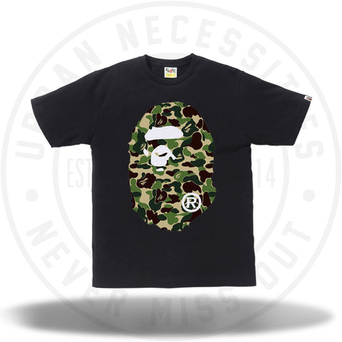 Bape ABC Big Ape Head Tee Black/Green-Urban Necessities