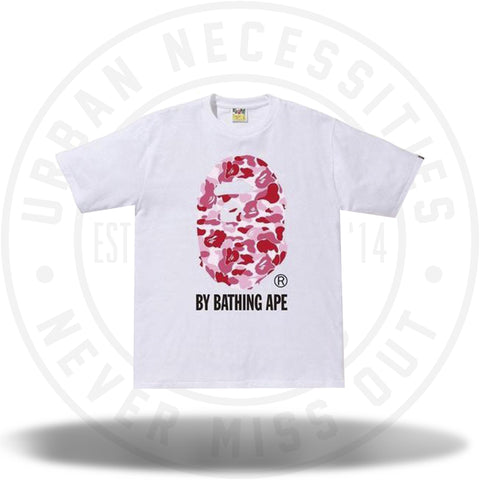 BAPE ABC By Bathing Tee White/Pink-Urban Necessities