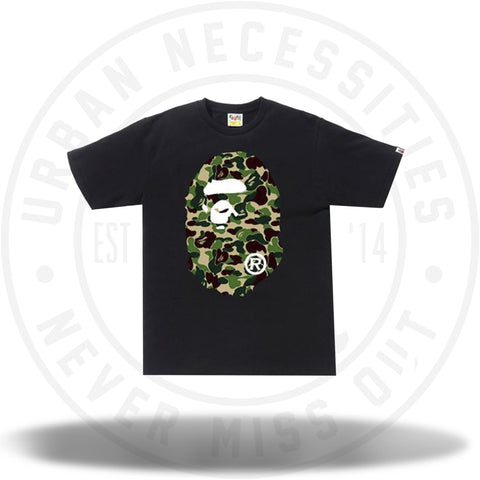Bape ABC Camo Ape Head Tee Black/Green-Urban Necessities