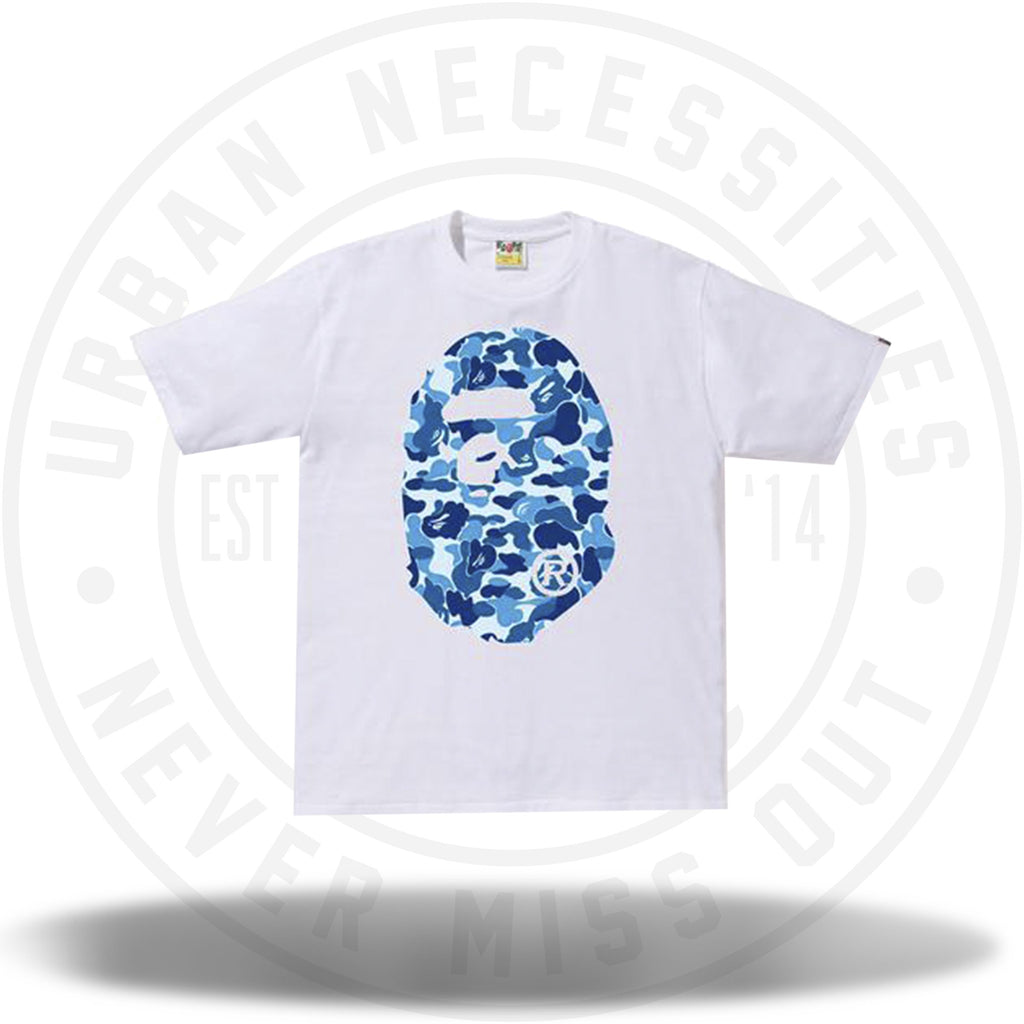 Bape ABC Camo Ape Head Tee White/Blue-Urban Necessities