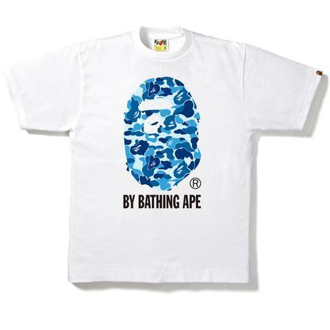 Bape Abc Camo by Bathing Ape Tee Blue/White-Urban Necessities