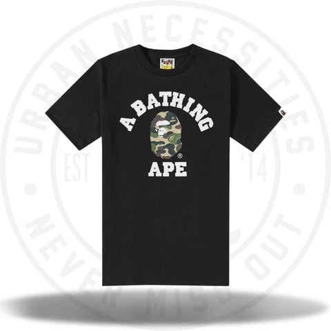 Bape ABC Camo College Tee Black-Urban Necessities