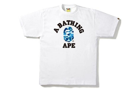 Bape ABC Camo College Tee White/Blue-Urban Necessities