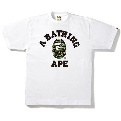 Bape ABC Camo College Tee White/Green-Urban Necessities