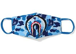 BAPE ABC Camo Shark Mask (SS20) Blue-Urban Necessities