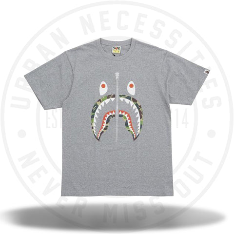 Bape ABC Camo Shark Tee Grey-Urban Necessities