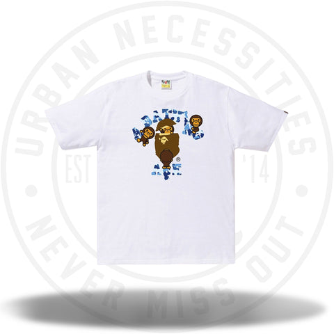 BAPE ABC College Milo Tee White/Blue-Urban Necessities
