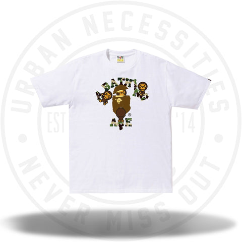 BAPE ABC College Milo Tee White/Green-Urban Necessities
