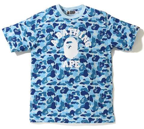 BAPE ABC College Tee Blue-Urban Necessities