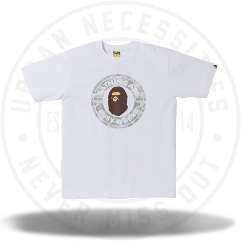 BAPE ABC Dot Reflective Busy Works Tee White-Urban Necessities