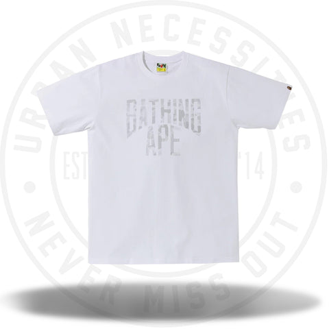 BAPE ABC Dot Reflective NYC Logo Tee White-Urban Necessities