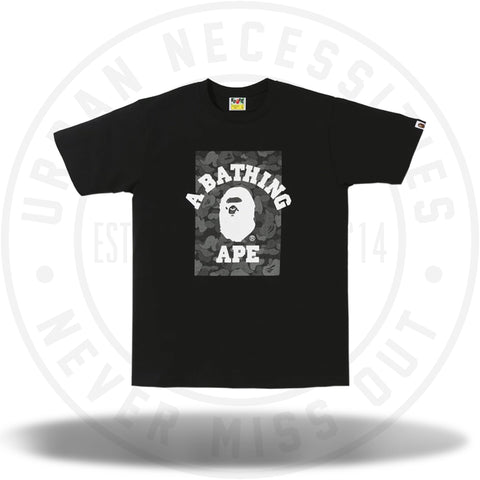 BAPE ABC Dot Reflective On College Tee Black-Urban Necessities