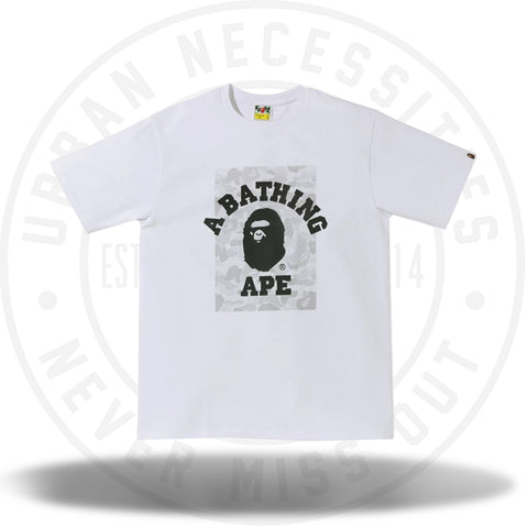 BAPE ABC Dot Reflective On College Tee White-Urban Necessities