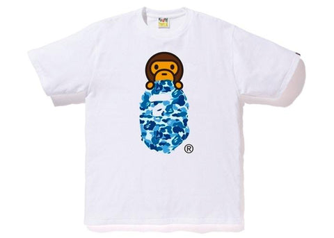 BAPE ABC Milo On Ape Head Tee White/Blue-Urban Necessities