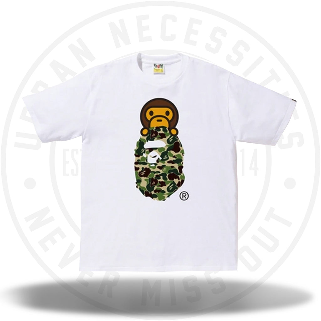 BAPE ABC Milo On Ape Head Tee White/Green-Urban Necessities