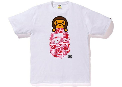 BAPE ABC Milo On Ape Head Tee White/Pink-Urban Necessities