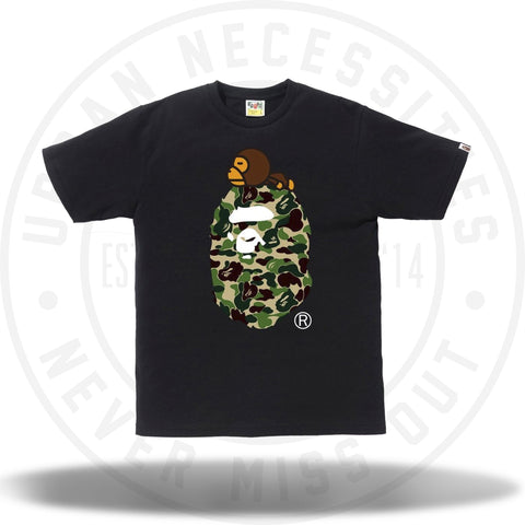 Bape ABC Milo on Big Ape Tee Black/Green-Urban Necessities