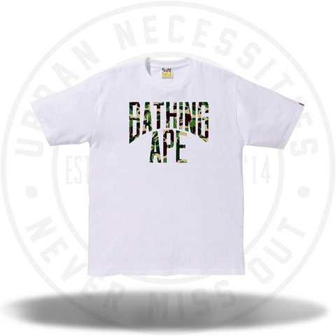 BAPE ABC NYC Logo Tee White/Green-Urban Necessities