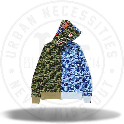 Bape ABC Separate Shark Full Zip Hoodie Green/Blue-Urban Necessities
