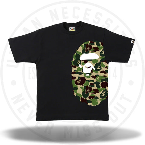 Bape ABC Side Big Ape Head Tee Black/Green-Urban Necessities