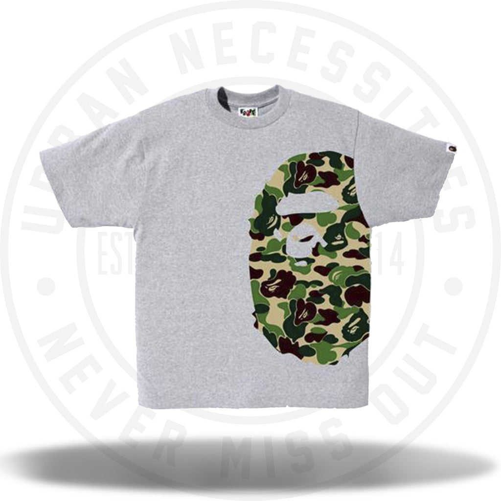 BAPE ABC Side Big Ape Head Tee Grey-Urban Necessities