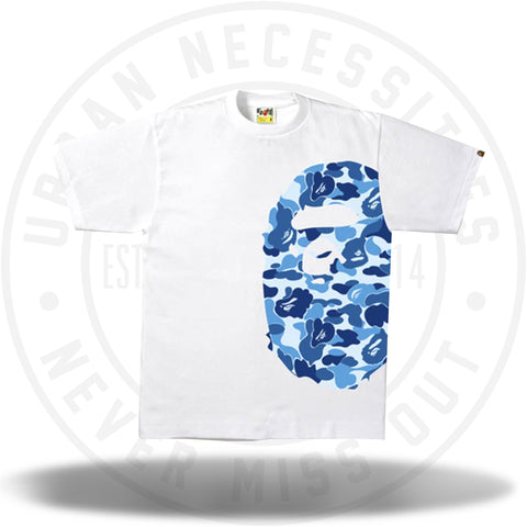Bape ABC Side Big Ape Head Tee White/Blue-Urban Necessities