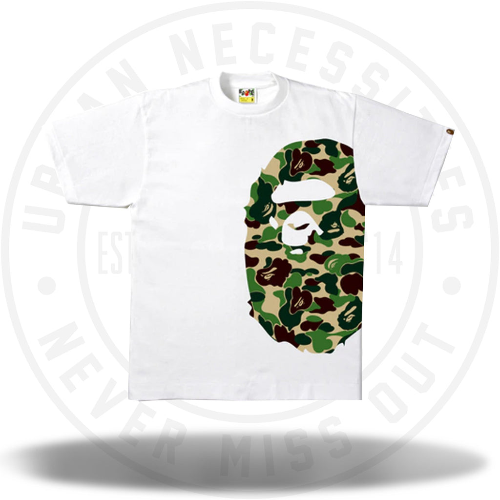 BAPE ABC Side Big Ape Head Tee White/Green-Urban Necessities