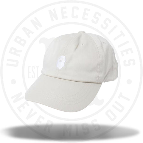 BAPE Ape Head Embroidery Panel Cap Beige/White Online Exclusive-Urban Necessities