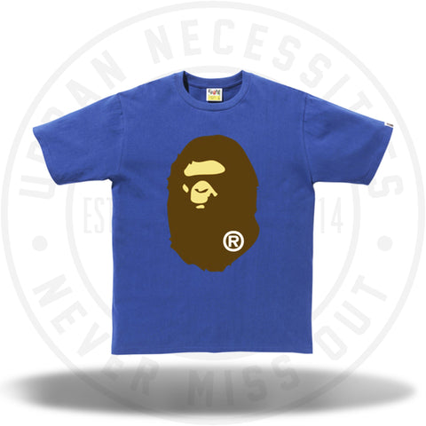 Bape Ape Head Tee Blue-Urban Necessities