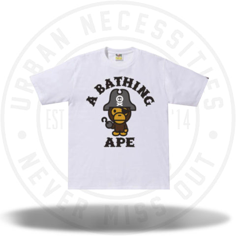 Bape Baby Milo Pirate Captain Tee White-Urban Necessities