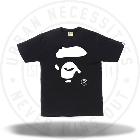Bape Bicolor Ape Face Tee Black/White-Urban Necessities