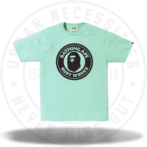 BAPE Bicolor Busyworks Tee Green-Urban Necessities