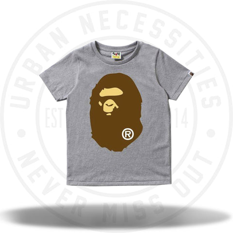 Bape Big Ape Head Tee Grey-Urban Necessities