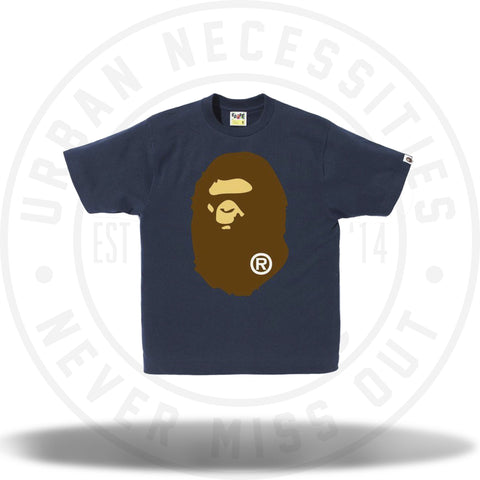 Bape Big Ape Head Tee Navy-Urban Necessities