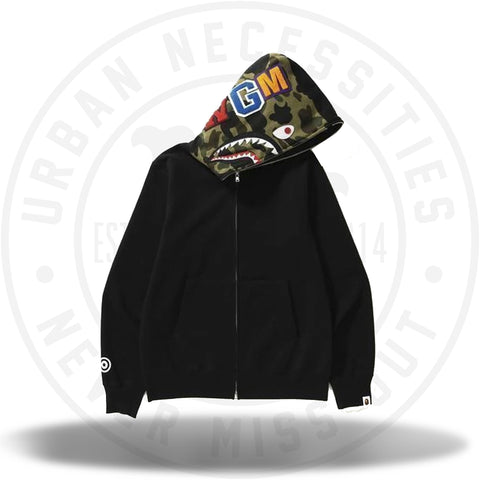 Bape Black Shark Full Zip Hoodie-Urban Necessities