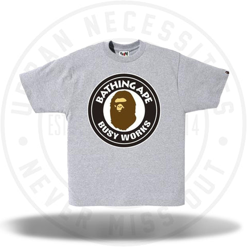 Bape Busy Works Tee Grey-Urban Necessities