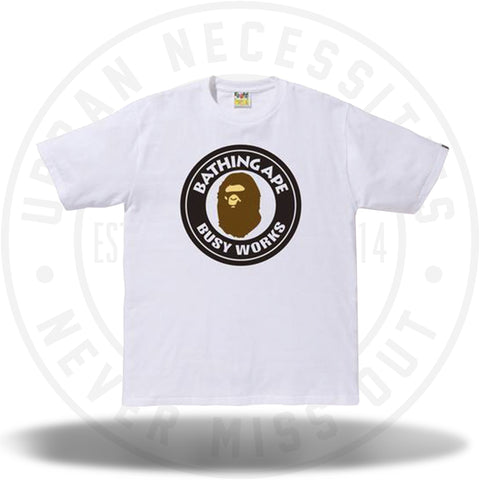 Bape Busy Works Tee White-Urban Necessities