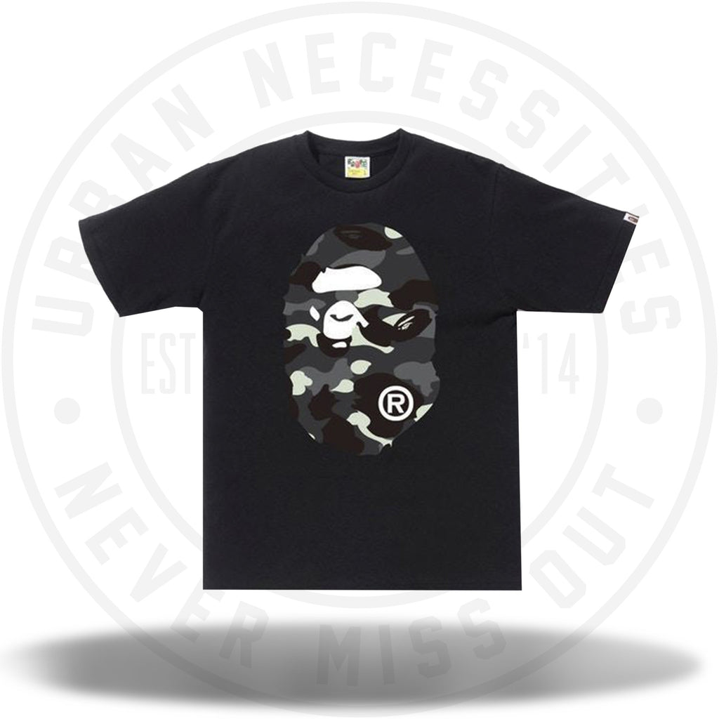 BAPE City Camo Big Ape Head Tee Black/Black-Urban Necessities
