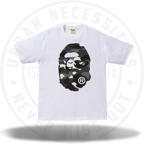 Bape City Camo Big Ape Head Tee White/Black-Urban Necessities