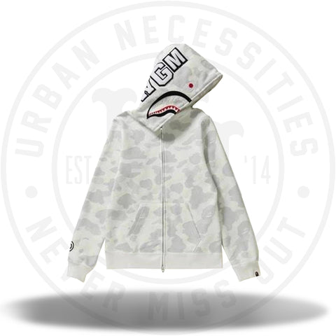 BAPE City Camo Shark Full Zip Hoodie White-Urban Necessities