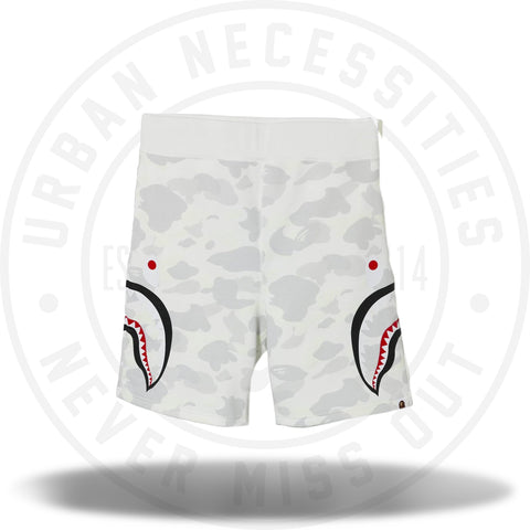 Bape City Camo Side Shark Sweat Shorts White-Urban Necessities